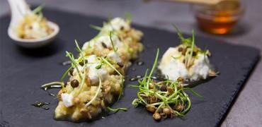 Porridge de millet et sa faisselle au miel de Châtaignier
