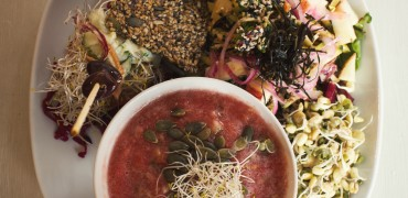 Graines germées , pile dans la tendance mondiale du «Raw Food»
