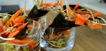 Recette fraîcheur de graines germés pois vert, lentilles et haricot mungo !