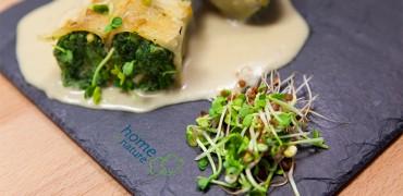 Cannellonis aux épinards, Ricotta et graines germées , gratinés au parmesan