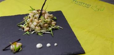Salade de haricots blancs aux graines et poires comices